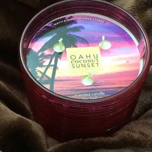 Bbw 🌴 Oahu coconut sunset candle in ribbed jar